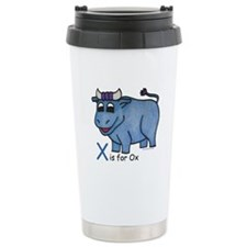 X is for Ox Travel Mug
