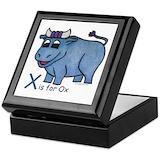 Babe babe blue ox Square Keepsake Boxes