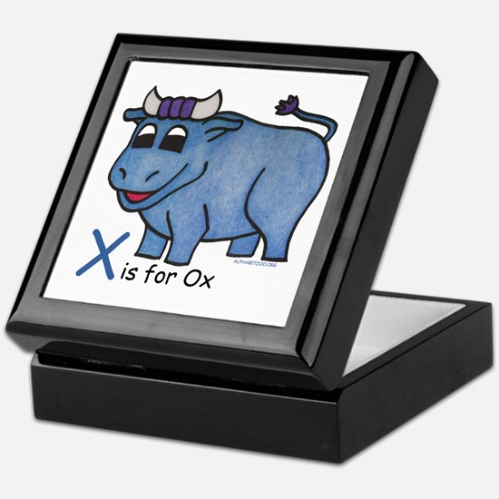 X is for Ox Keepsake Box