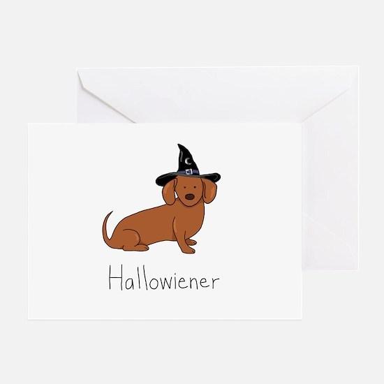 Halloween Wiener Dog Greeting Card