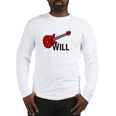 Guitar - Will Long Sleeve T-Shirt