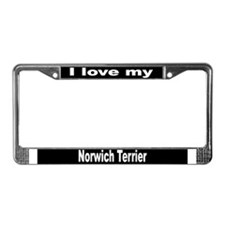"""Norwich Terrier"" License Plate Frame"