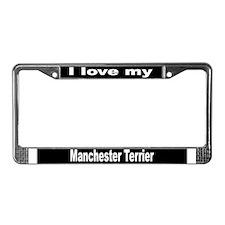 """Manchester Terrier"" License Plate Frame"