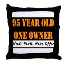 95th Birthday Throw Pillow