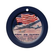 Unique World war ii plane Ornament (Round)