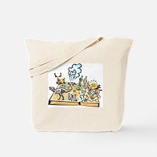 Wyoming Map Tote Bag