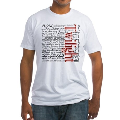 Movie Twilight Quotes Gifts Fitted T-Shirt