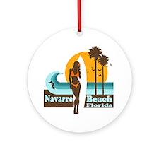 Navarre Beach FL Ornament (Round)