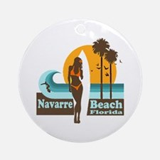 Navarre Beach FL Ornament (Round)