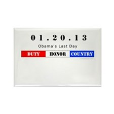 1.20.13 - Obama's Last Day Rectangle Magnet