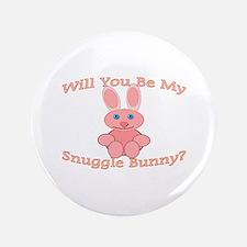 "Snuggle Bunny 3.5"" Button"