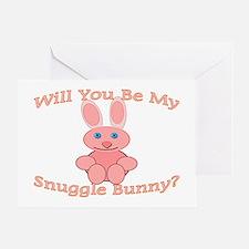 Snuggle Bunny Greeting Card