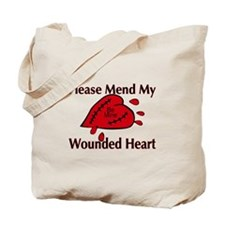 Valentine Wounded Heart Tote Bag