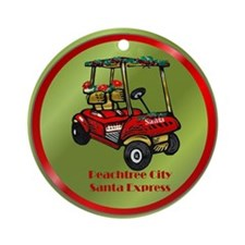 Peachtree City Holidays Ornament (Round)