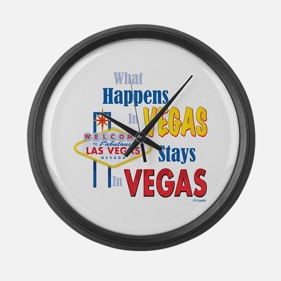 Vegas Large Wall Clock