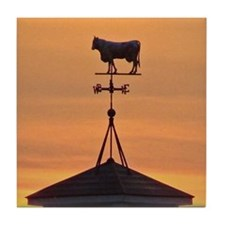 Sunset on the Farm Tile Coaster