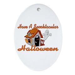 Spooktacular Halloween Oval Ornament