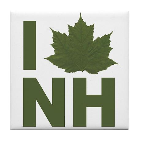 I Love NH Tile Coaster