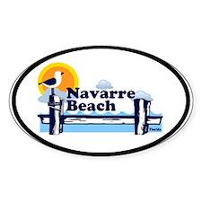 Navarre Beach FL Oval Sticker (10 pk)
