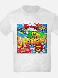 I'm Four Comic Book T-Shirt