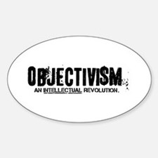 Objectivism Revolution Oval Decal