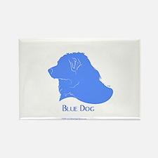 Classic Blue Dog Rectangle Magnet