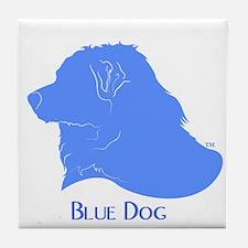 Classic Blue Dog Tile Coaster
