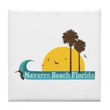 Navarre Beach FL Tile Coaster