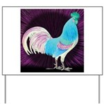 Moon Glow Rooster Yard Sign