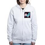 Moon Glow Rooster Women's Zip Hoodie