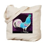 Moon Glow Rooster Tote Bag
