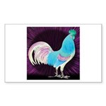 Moon Glow Rooster Rectangle Sticker