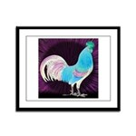 Moon Glow Rooster Framed Panel Print