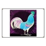 Moon Glow Rooster Banner