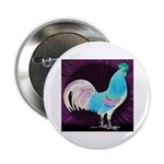"Moon Glow Rooster 2.25"" Button"