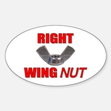 Wing Nut Oval Decal