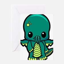 Baby Cthulhu Greeting Cards