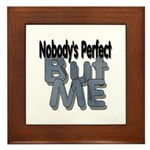Nobody's Perfect Framed Tile