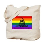 Rainbow Gadsden Flag Tote Bag