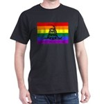 Rainbow Gadsden Flag Dark T-Shirt