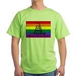Rainbow Gadsden Flag Green T-Shirt