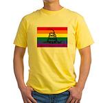 Rainbow Gadsden Flag Yellow T-Shirt