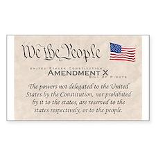 Amendment X Rectangle Decal