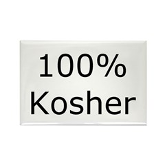 Jewish 100% Kosher Rectangle Magnet (10 pack)
