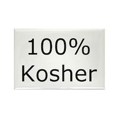 Jewish 100% Kosher Rectangle Magnet