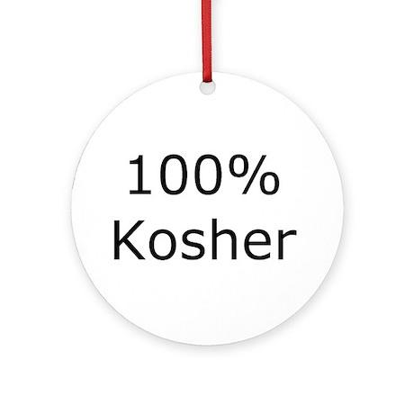 Jewish 100% Kosher Ornament (Round)