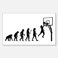 Evolution Of Woman And Basketball Decal