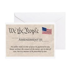 Amendment III Greeting Card