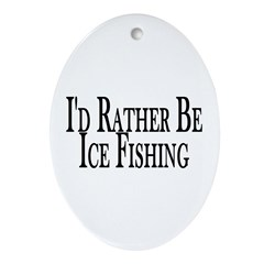 Rather Ice Fish Oval Ornament
