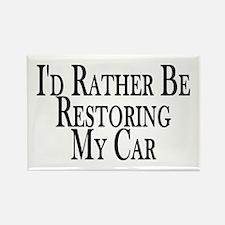 Rather Restore Car Rectangle Magnet